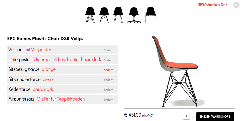 vitra neue website mit konfigurator unhyped. Black Bedroom Furniture Sets. Home Design Ideas