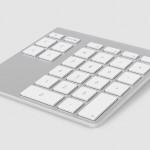 Zahlen, bitte! Kabelloser Ziffernblock im Alu-Look für den Mac