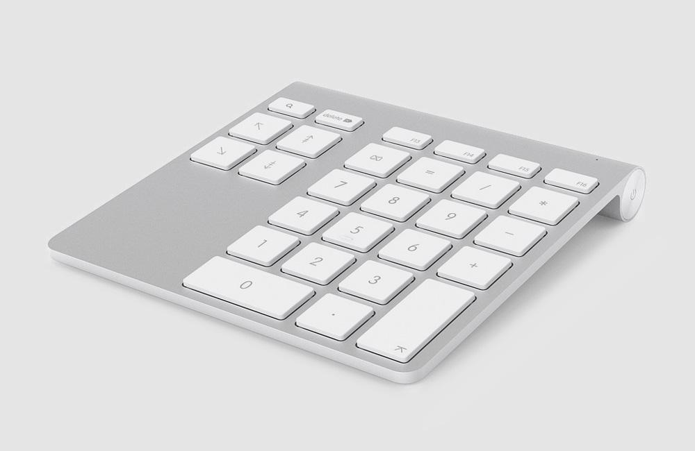 Belkin-YourType-Wireless-Keypad-Bluetooth-Zahlen-Tiffernblock-Tastatur-Apple-Mac-Design-Alu