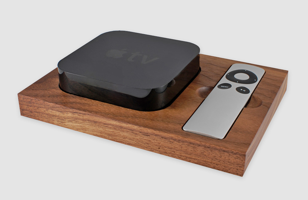Tinsel-Timber-Apple-TV-Halterung-Dock-Docking-Station-Holz
