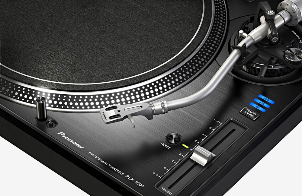 Pioneer-PLX-1000-Turntable-Plattenspieler-Tonarm