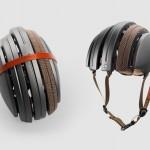 Stilsicher geschützt mit dem faltbaren Fahrradhelm von Brooks und Carrera