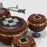 """Plattenspieler """"The Planet"""" aus über 2.400 Lego-Bausteinen"""