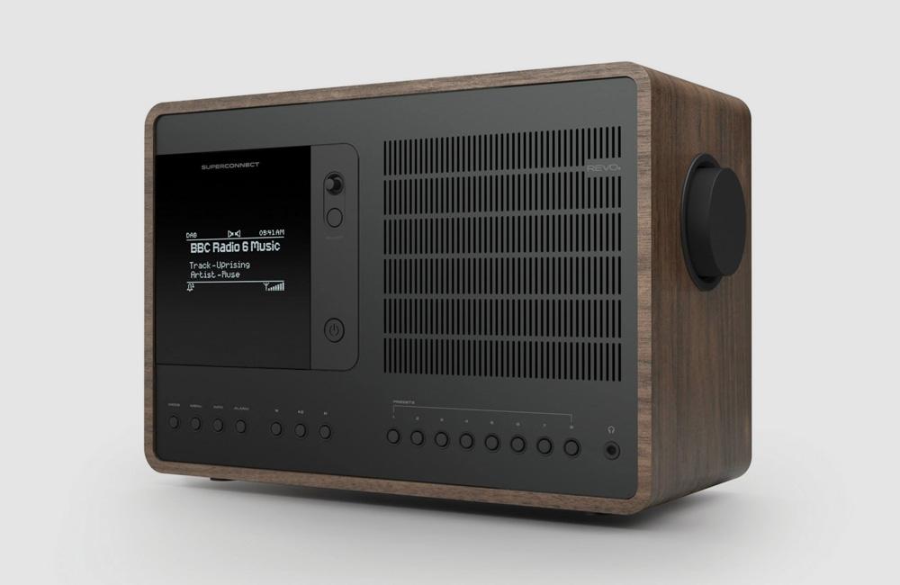 Revo-SuperConnect-DAB-Digital-UKW-Radio-Bluetooth-Soeaker-Classic-Vintage-Eloxiert-Schwarz-Walnuss
