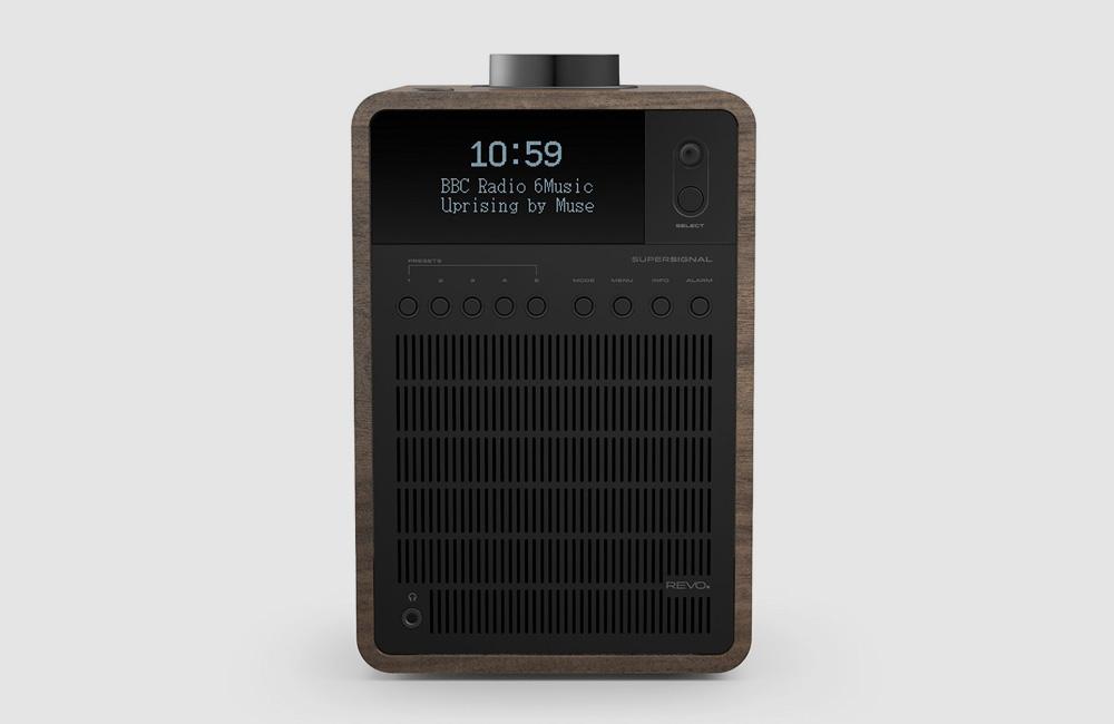Revo-SuperSignal-DAB-Digital-UKW-Radio-Bluetooth-Soeaker-Classic-Vintage-Eloxiert-Schwarz-Walnuss