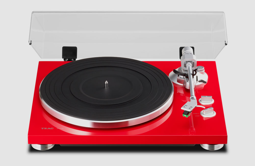 Teac-TN-300-Turntable-Plattenspieler-Rot