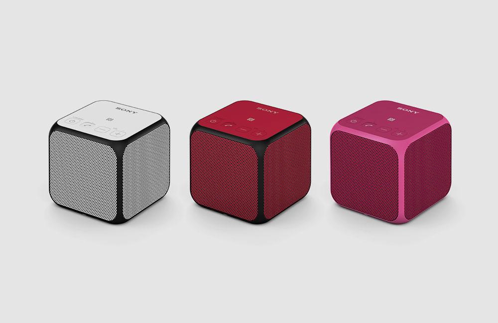 Sony-SRS-X11-Mini-NFC-Bluetooth-Lautsprecher-mit-Akku-Schwarz-Rot-Weiss-Pink