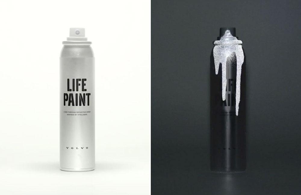 Volvo-Life-Paint-Reflektierendes-Spray-Fahrrad-Kleidung-Strassenverkehr-1