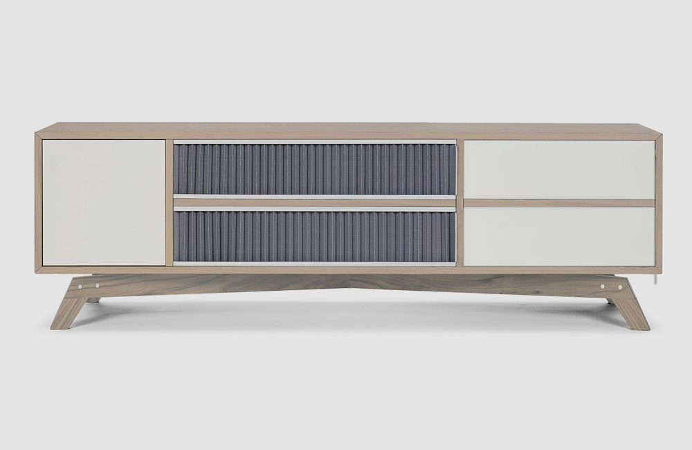 Bolia-Medienmöbel-HiFi-Sideboard-Schrank-Plisse-Gross-Eiche