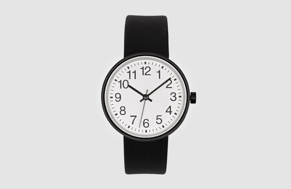 Muchi-Watch-Black-Armbanduhr-Uhr-Hellgrau-Schwarz