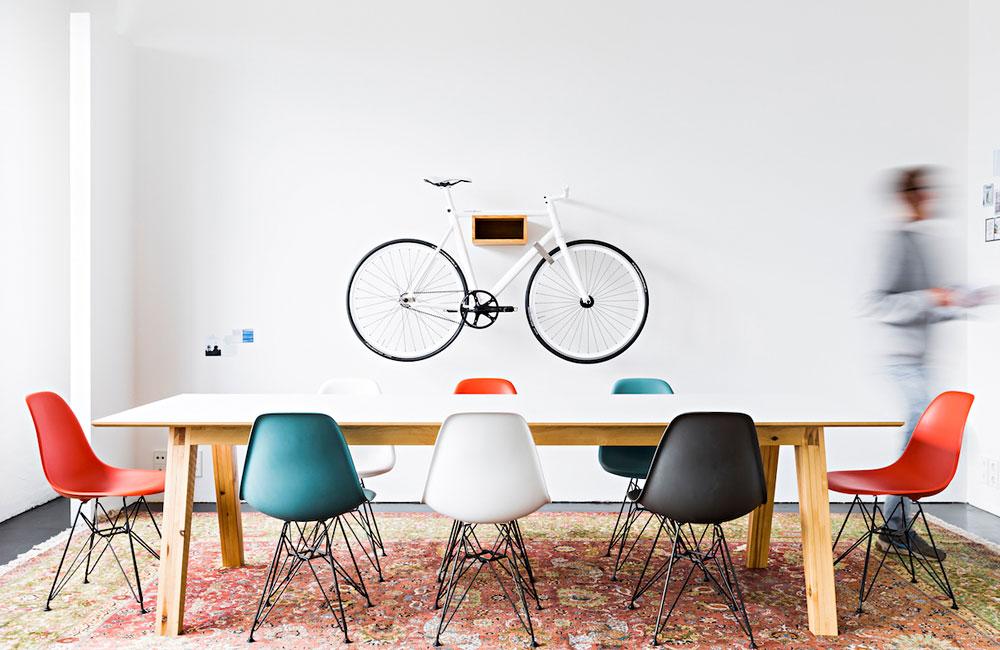 Mikili-Fahrradregal-Gipon-Eiche-Weiss-Wandhalterung-Fahrrad-Bike-4