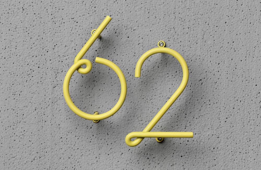 NAKNAK-Wire-Number-Gebogene-Bunte-Hausnummer-Stahl-3