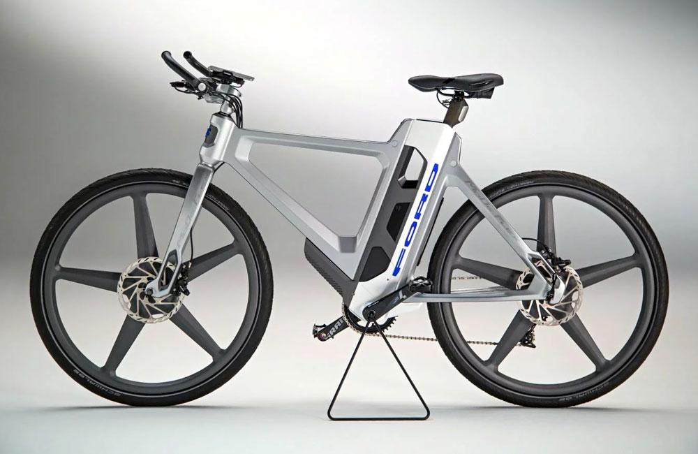 konzept f r klappbares e bike ford mode flex unhyped. Black Bedroom Furniture Sets. Home Design Ideas