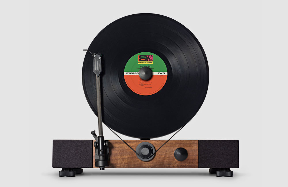 gramovox floating record stereoanlage mit stehendem. Black Bedroom Furniture Sets. Home Design Ideas