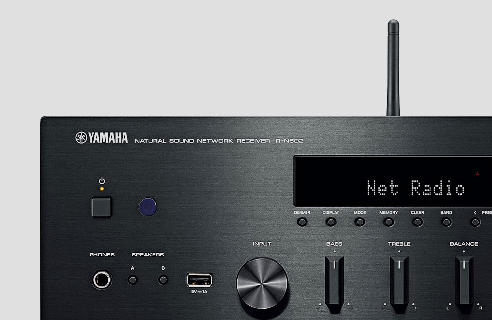Yamaha-R-N602-Wireless-WiFi-Stereo-HiFi-Receiver-Bluetooth-AirPlay-MultiCast-Front-Antenna