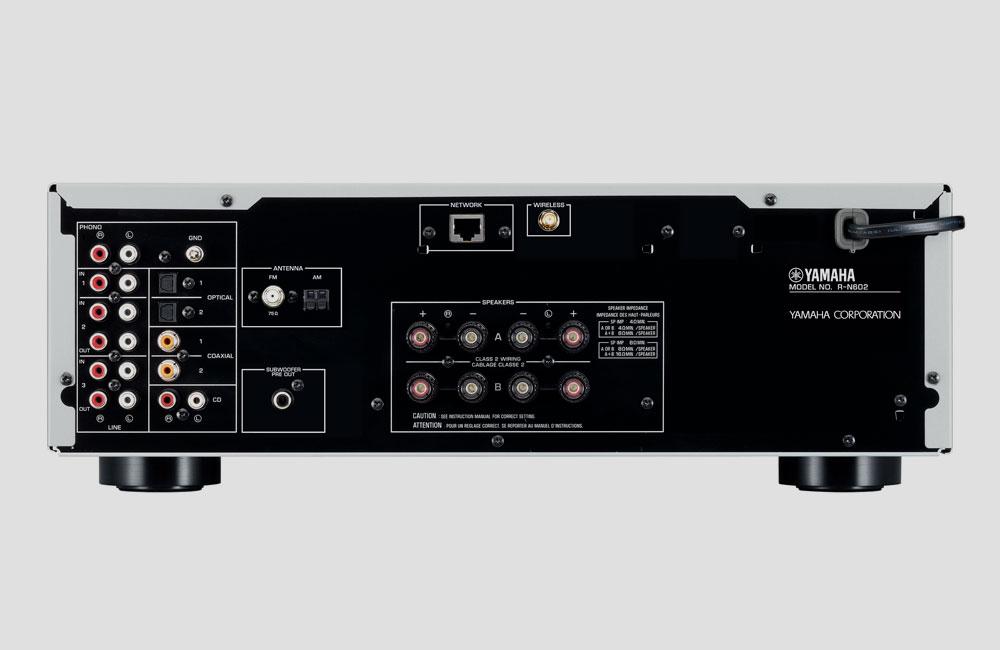 Yamaha-R-N602-Wireless-WiFi-Stereo-HiFi-Receiver-Bluetooth-AirPlay-MultiCast-Rear