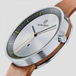 """Jacob Jensen """"Strata"""": Minimalistische Armbanduhr mit einteiligem Armband"""