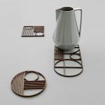 Geometrische Untersetzer: Outline Trivet von Ferm Living