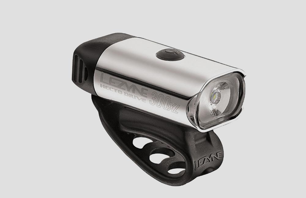 Lezyne-Hecto-Drive-XL-Front-Fahrrad-Scheinwerfer-Akku-Licht-Design-300-Lumen-Silber-USB