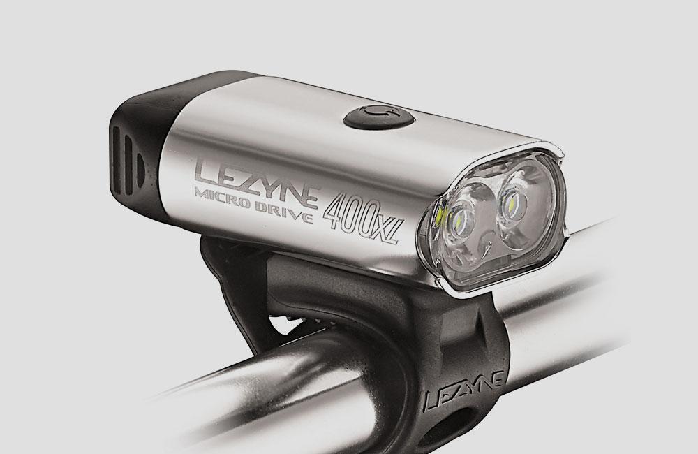 Lezyne-Micro-Drive-XL-Front-Fahrrad-Scheinwerfer-Akku-Licht-Design-400-Lumen