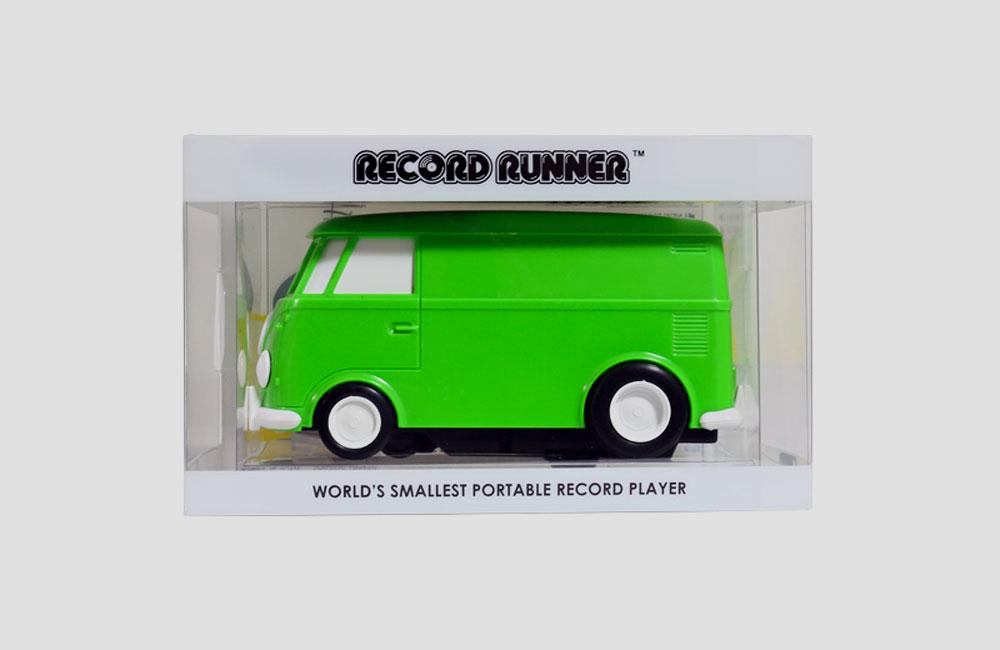 Record-Runner-VW-Bus-Auto-Mini-Mobil-Plattenspieler-Lautsprecher-Vinyl-Killer-3