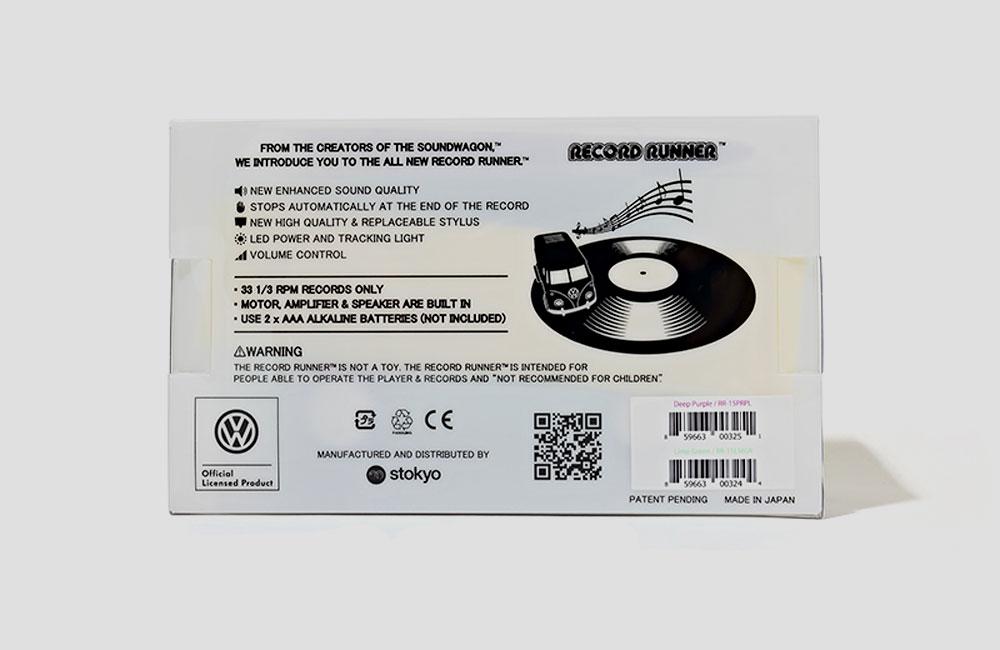 Record-Runner-VW-Bus-Auto-Mini-Mobil-Plattenspieler-Lautsprecher-Vinyl-Killer-4