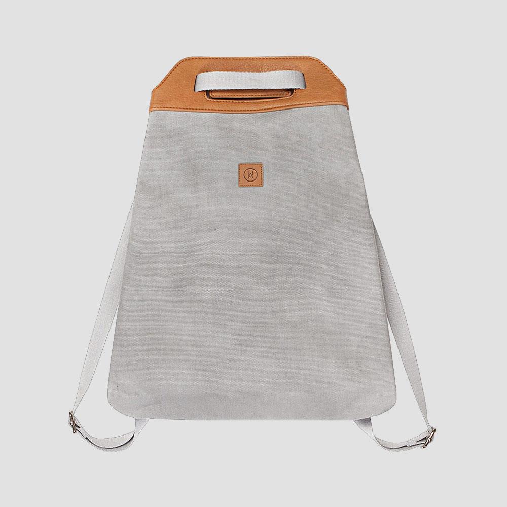 Ucon-Acrobatics-Tasche-Rucksack-Backpack-Canvas-Leder-Grau-Braun-5