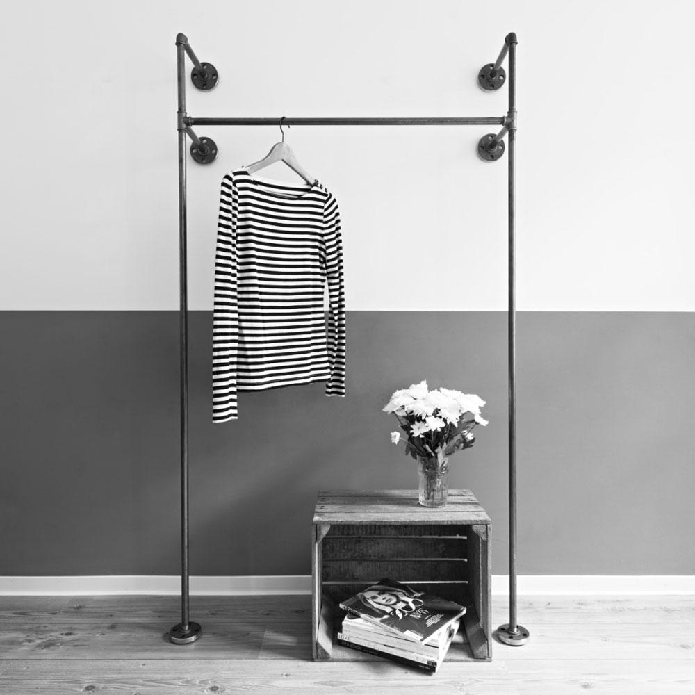 Various-Stahlrohr-Moebel-Accessoires-Kleiderstaender-Kleiderschrank-Stahl-Individuell-Design-6