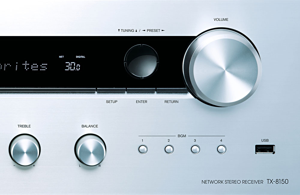 Onkyo-TX-8150-HiFi-Stereo-Receiver-DAB-Bluetooth-AirPlay-Front