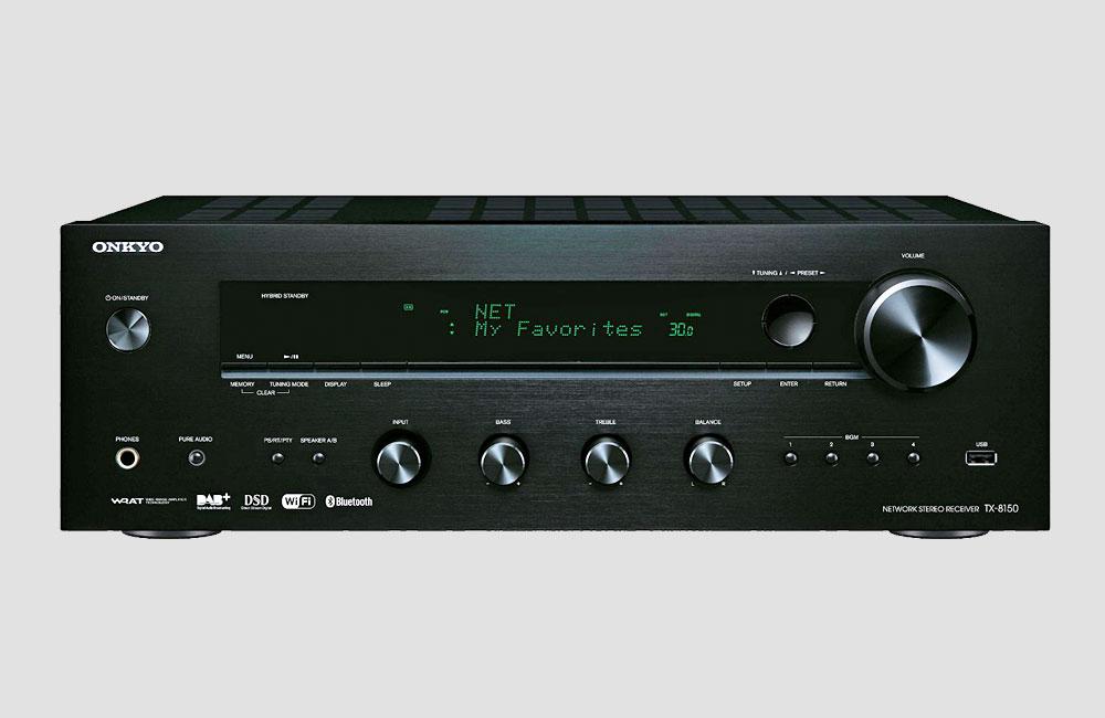 Onkyo-TX-8150-HiFi-Stereo-Receiver-DAB-Bluetooth-AirPlay-Schwarz