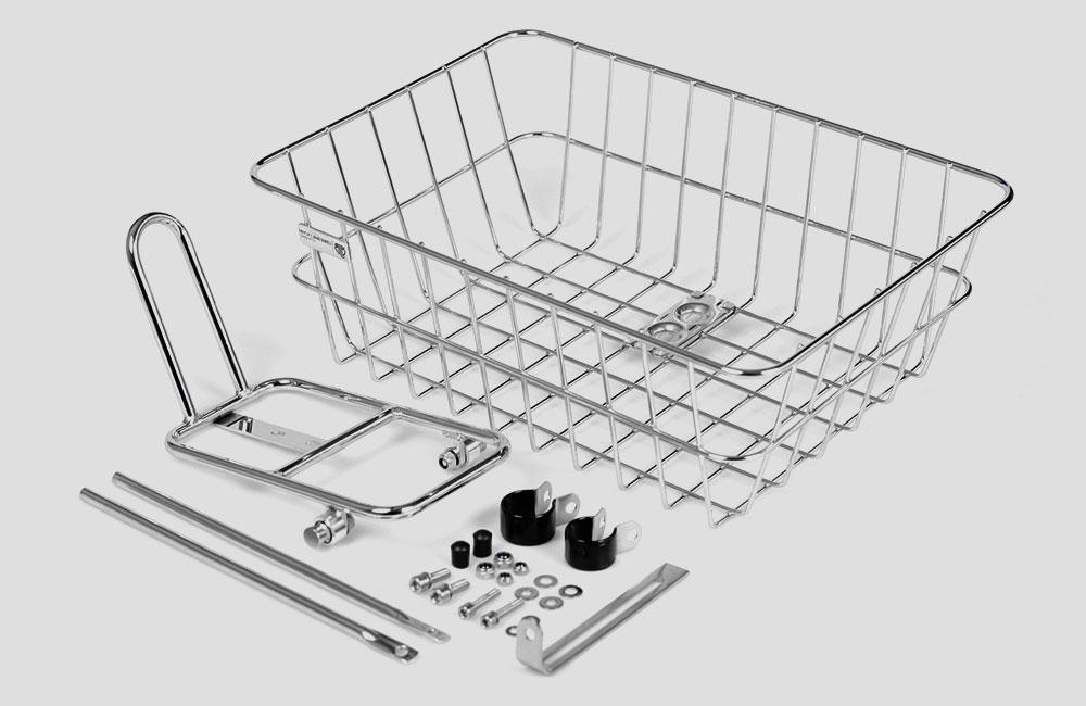 BLB-Rack-Basket-Combo-Frontgepaektraeger-Gepaektraeger-Vorne-Silber