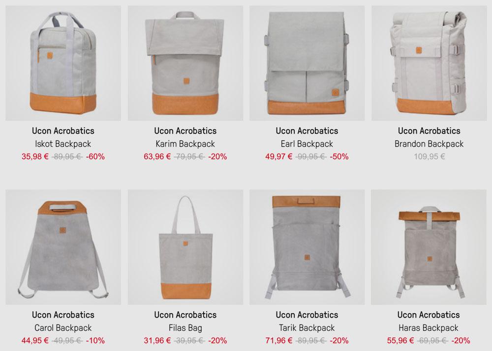 0f75b299a0571 Deal  Rucksäcke und Taschen von Ucon Acrobatics aus Canvas-Leder-Mix ...