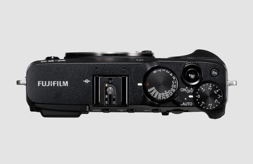 Fujifilm-X-E3-Spiegellose-Kompakt-Kamera-Retro-Design-Bluetooth-Touchscreen-Schwarz-Oben
