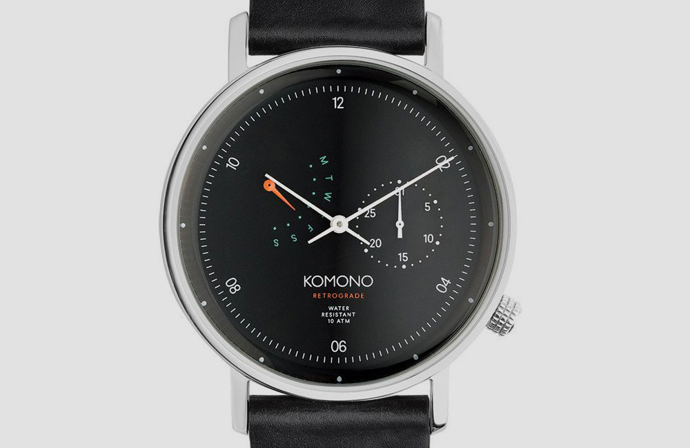 Komono-Walther-Retrograde-Watch-Black