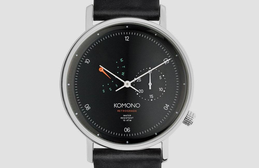 Komono-Walther-Retrograde-Watch-Black