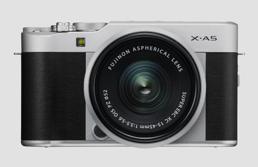 Fujifilm-X-A5-Mirrorless-Systemkamera-Einsteiger-Bluetooth-2018-Front