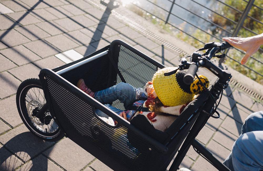 Muli-Cargobike-Lastenrad-Korb-Kindersitz