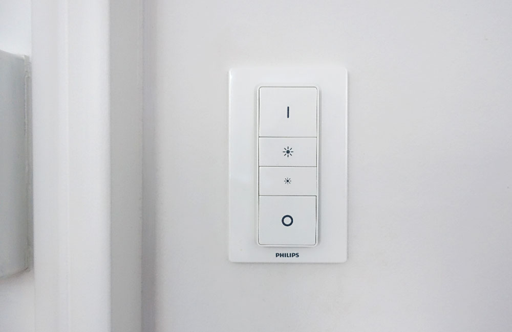 Smart-Home-Beleuchtung-Alltag-Hue-Dimmer-Front