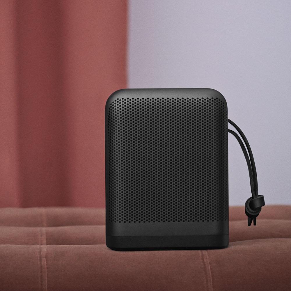 BeoPlay-P6-Bluetooth-Design-Lautsprecher-Alu-Leder-Schwarz-Front