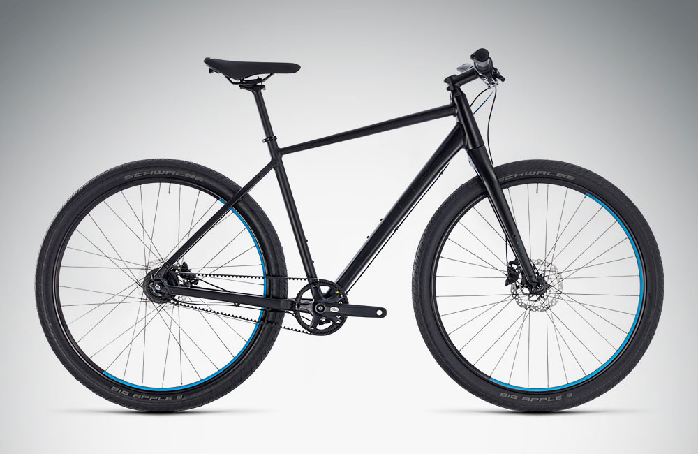 Urban-Bikes-2018-Zahnriemen-Cube-Hyde-Pro