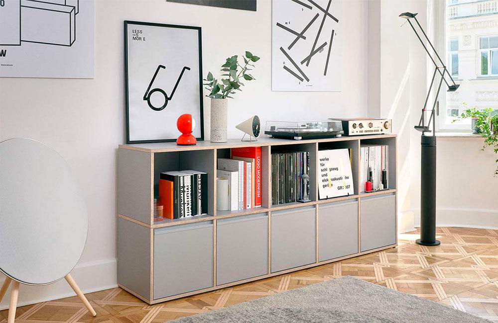 tylko vinyl schallplatten sideboard unhyped. Black Bedroom Furniture Sets. Home Design Ideas